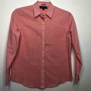 Jones New York orange easy care shirt. Size medium